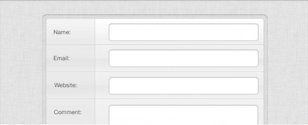 Grey comment form psd