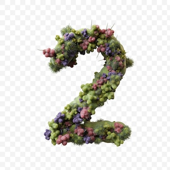 Griep of covid virus alfabet groene microbe letter a geïsoleerd ontwerp