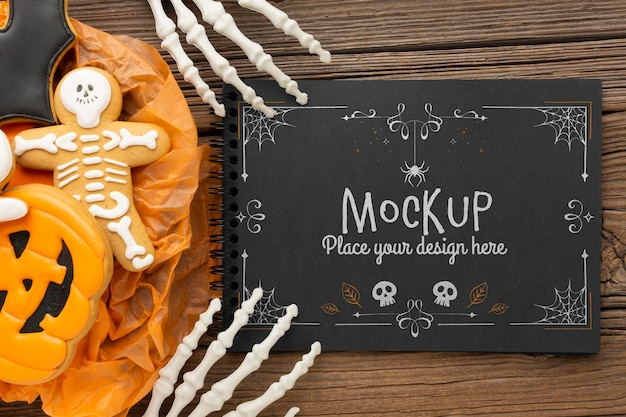 Griezelig halloween-conceptmodel