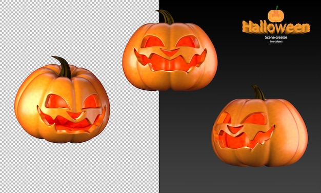 Griezelige en schattige halloween-pompoen