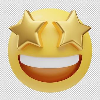 Grijnzend gezicht emoji 3d illustratie