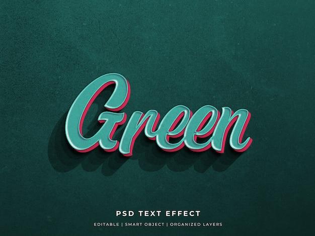 Groen 3d teksteffect