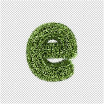 Groen gras brief 3d-rendering