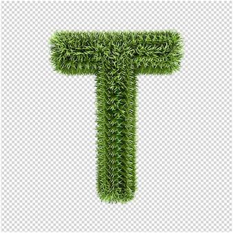 Groen gras letters 3d-rendering