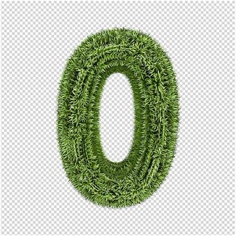 Groen gras nummer 3d-rendering