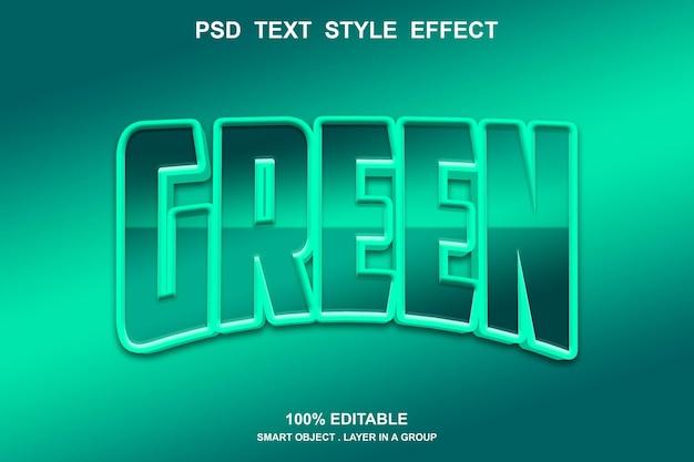 Groen teksteffect bewerkbaar