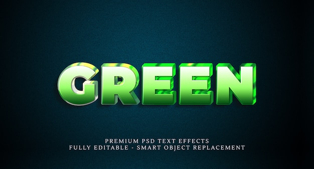 Groen tekststijleffect psd, premium psd-teksteffecten