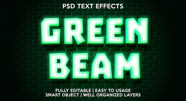 Groene balk teksteffect sjabloon