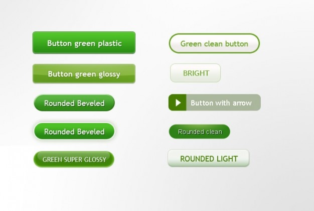 Groene knoppen in differents maten