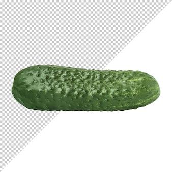 Groene komkommer op een transparante achtergrond