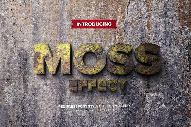 Groene mos 3d lettertype effect sjabloon