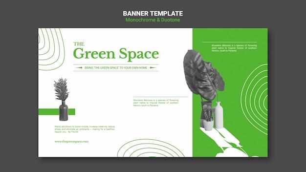 Groene ruimte sjabloon voor spandoek