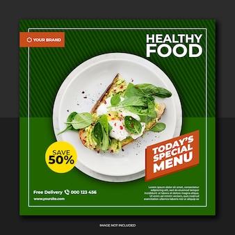 Groene stijl voedsel sociale media