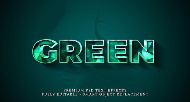 Groene tekststijl effect sjabloon
