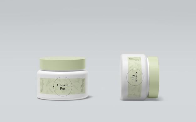 Groene verpakking van cosmetische producten