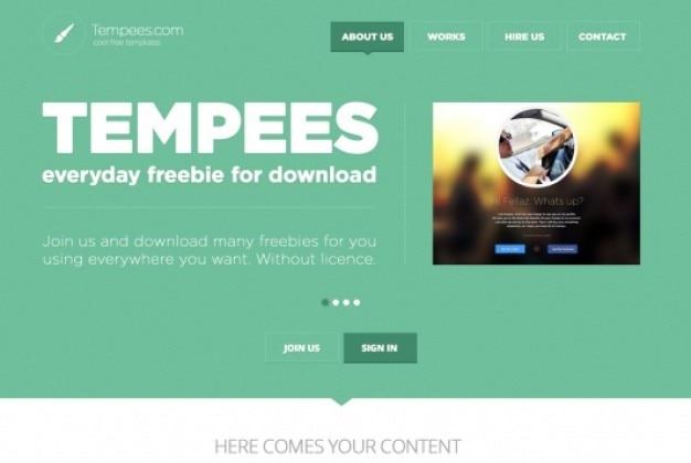 Groene web header platte ontwerp