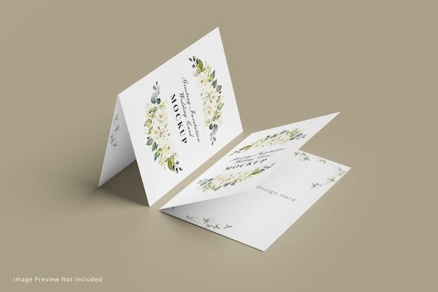Groet uitnodiging trouwkaart mockup