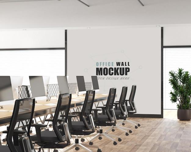 Groot en modern mockup voor kantoorruimte