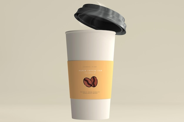 Groot formaat papieren koffiekopje mockup Gratis Psd