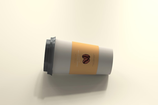 Groot formaat papieren koffiekopje mockup