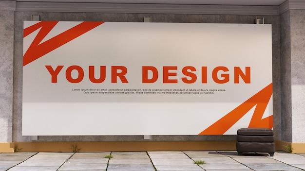 Groot indoor reclamebordmodel