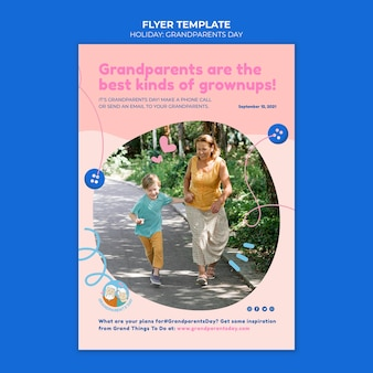 Grootouders dag folder sjabloon