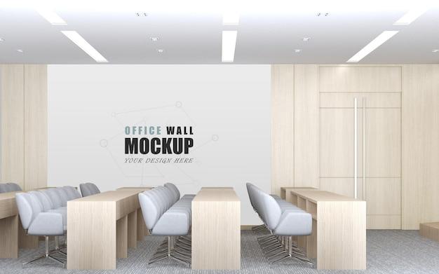Grote hal met eenvoudig modern design wandmodel