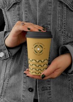 Grote koffiekopje mockup