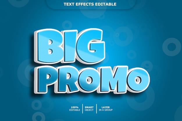 Grote verkoop 3d-teksteffect bewerkbaar