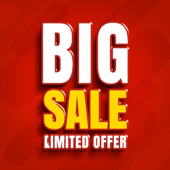 Grote verkoop beperkt aanbod weergave
