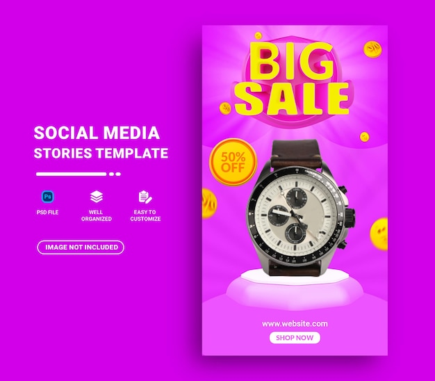 Grote verkoop instagram verhalen sjabloon