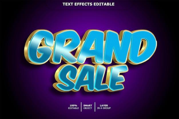 Grote verkoop teksteffect bewerkbaar