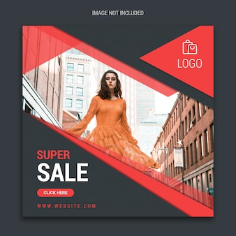 Grote verkoop vierkante sociale media banner