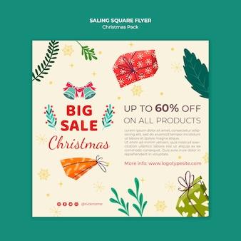 Grote verkoop voor kerstflyer