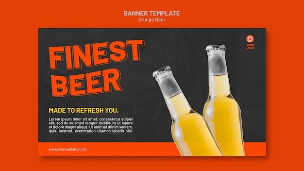 Grunge bier sjabloon voor spandoek