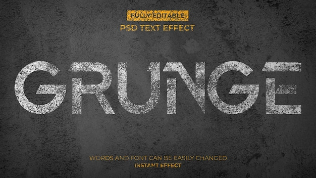 Grunge concreet teksteffect