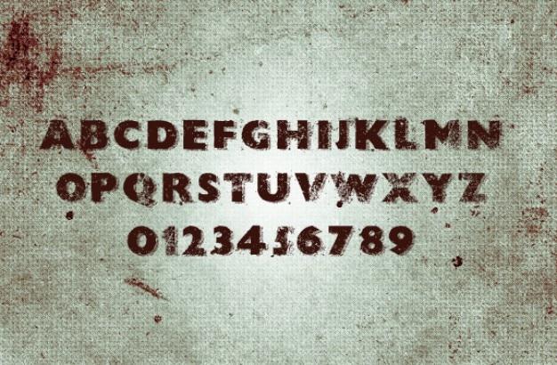 Grunge font.
