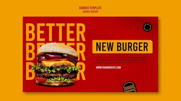 Grunge hamburger sjabloon voor spandoek