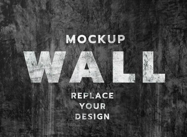 Grunge muur betonnen textuur mockup
