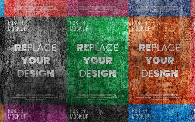 Grunge oude poster collage mockup