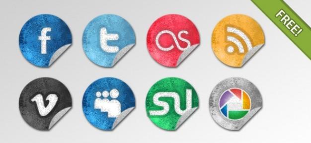 Grunge social network pictogrammen
