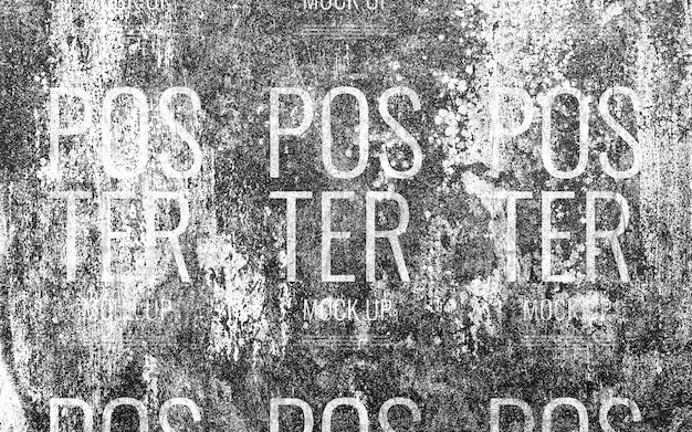 Grunge tegel poster mockup