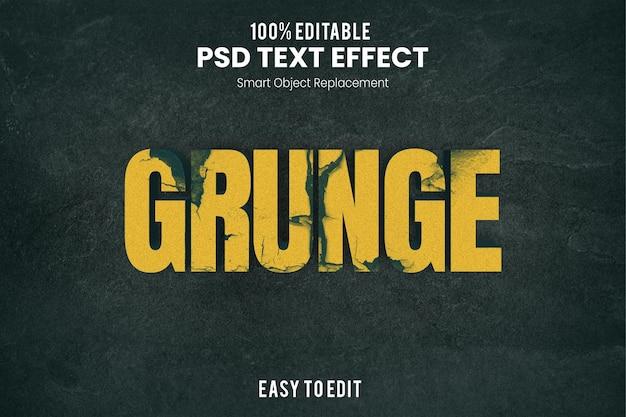 Grungetext-effect