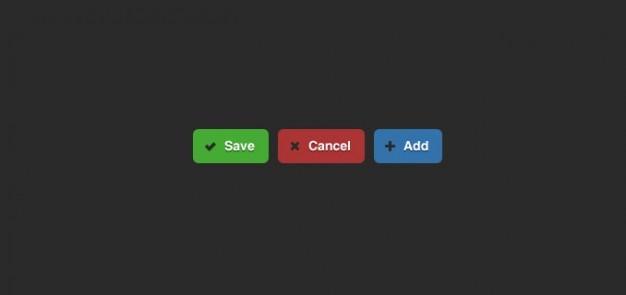 Guardar cancelar y añadir botones sencillos