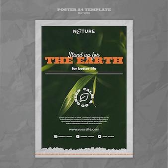 Guardar plantilla de cartel de medio ambiente