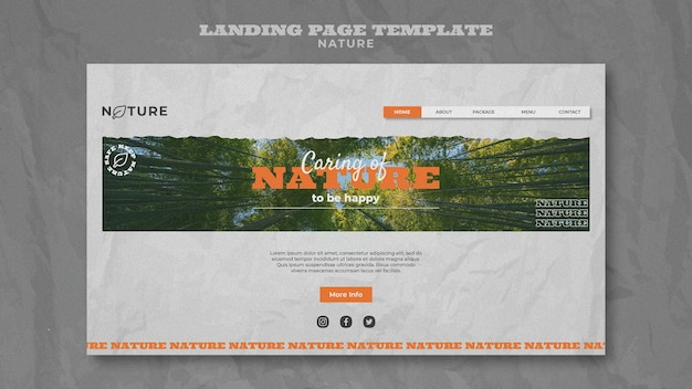 Guardar plantilla web de naturaleza