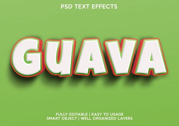 Guava-teksteffect