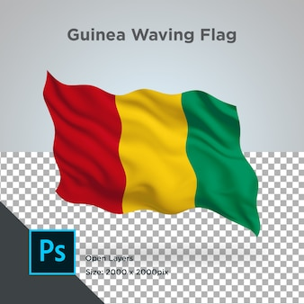 Guinee vlag wave transparant psd