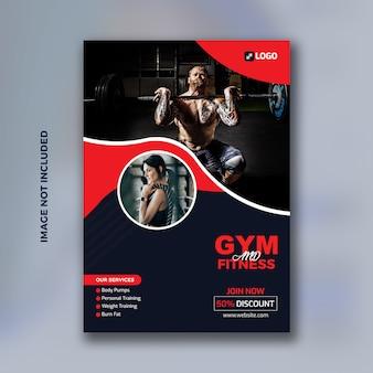 Gym en fitness flyer