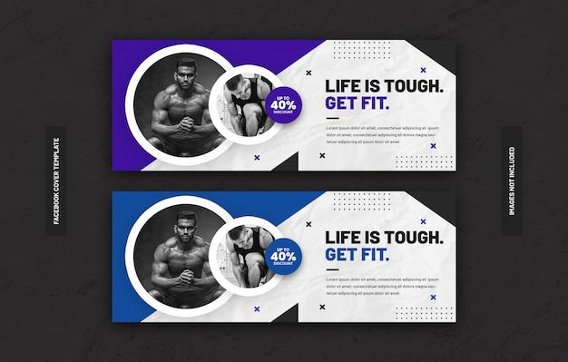 Gym fitness trainingscentrum sjabloon voor sociale media plaatsen op facebook voorblad